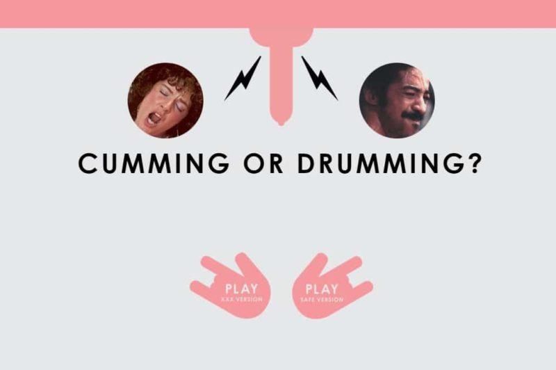 La page d'accueil du jeu Cumming or Drumming