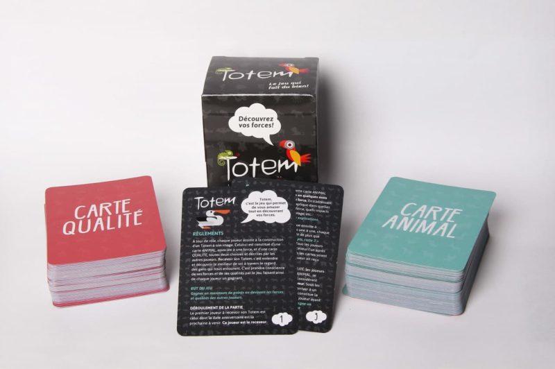 Le jeu Totem avec les cartes qualité et animal