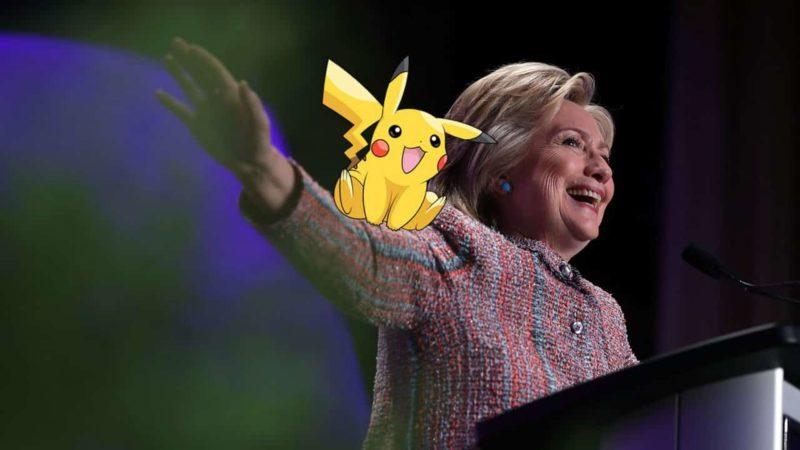 Hilary Clinton et pikachu