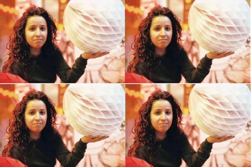 Nadia Ahmane en mode boule à facettes