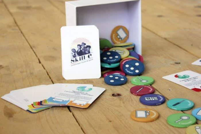 Photo du jeu SKILL E, ses cartes et jetons
