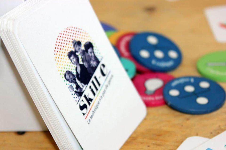Cartes et jetons du jeu SKILL-E