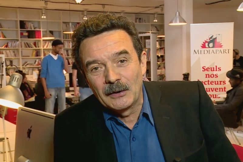 Capture d'écran d'Edwy Plenel, directeur de Mediapart.