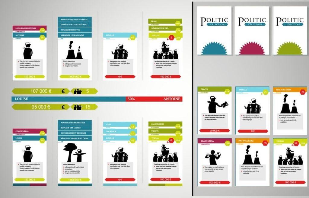 Capture d'écran du jeu Politic réalisé lors de la Mediajam