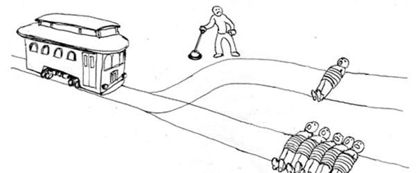 Dessin du dilemme du tramway