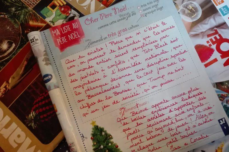 La lettre au Père Noël de BEJOUE