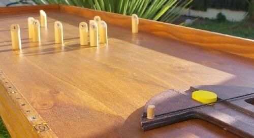 Terrain de Molkky de table