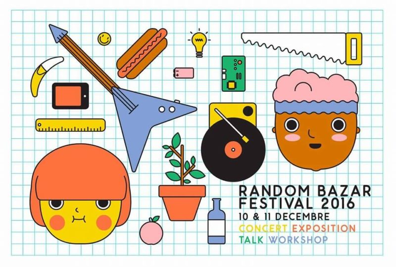 Affiche du festival Random Bazar 2016