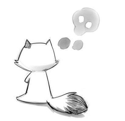 Dessin du chat du jeu smokitten