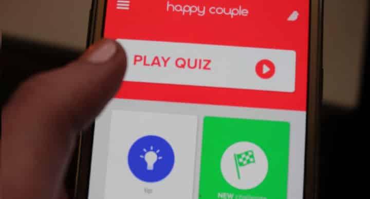 Ecran avec l'application Happy Couple