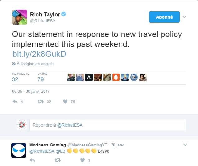 Le tweet de Rich Taylor