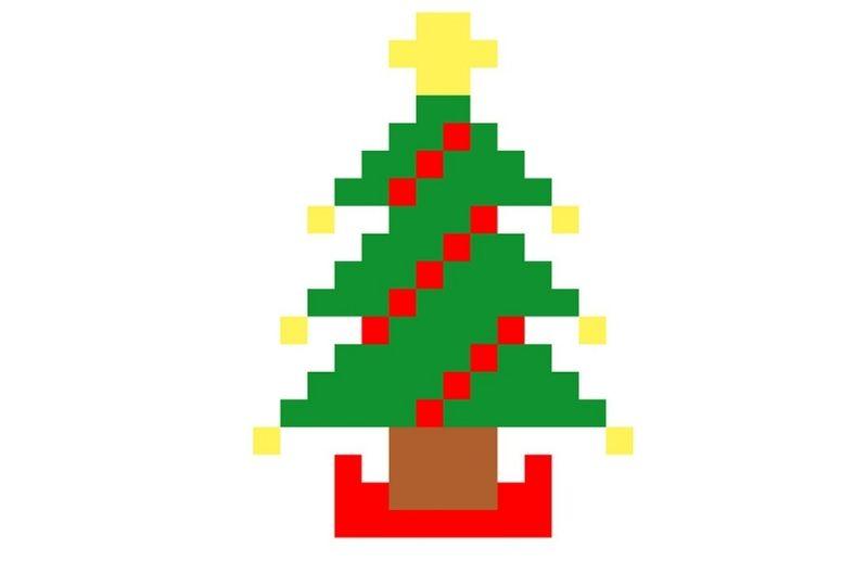 Un dessin de sapin de Noël